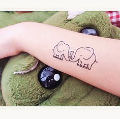 1 set of Elephant temporary tattoo fake tattoo by MaomaoCreation, $3.99
