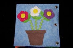 Cute flower quiet book page.