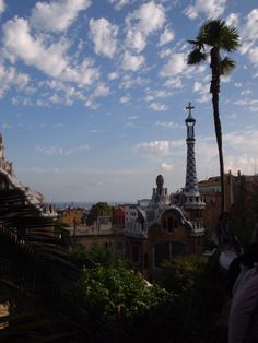 the panoramic view from the park guell Barcelona