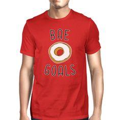 Bae Goals Men's Red T-shirt Humorous Graphic Shirt Round Neck Tee