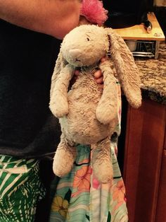Lost on 09 Jun. 2016 @ Atlanta airport. Well loved stuffed grey bunny rabbit. Dropped outside train at Atlanta airport. Jellycat brand. Visit: https://whiteboomerang.com/lostteddy/msg/last3d (Posted by Staci on 10 Jun. 2016)