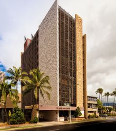 """1960 The Queen Emma Building (formerly the York Building)   Architect: Jo Paul Rognstad   Honolulu, HI   Top Photo: Darren Bradley This building placed second in a poll for the ugliest building in Honolulu (conducted by the columnist Charles Memminger in the Honolulu Star-Bulletin in 2005). Owner and developer Greg Hatcher purchased the building in late 2010 and has plans to turn it into 106 condominiums for residents 60 years or older, re-branding it the """"Queen Emma Regency."""" Via: 1   2   3"""