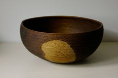 Limed and oiled Oakbowl - ∅ 32, H 14,5cm