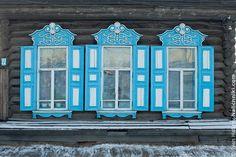 Beautiful and big shutters in Nerchinsk