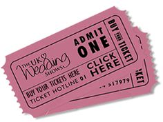 Don't forget to buy your tickets for our shows at www.theukweddingshows.co.uk
