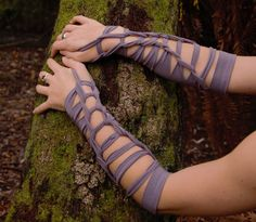 Medium - Lavender festival psytrance armwarmers - Cotton Lycra blend