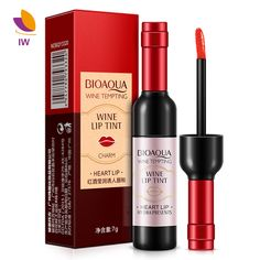 BIOAQUA Lip Gloss Moisturizer Wine Red Shape Lip Tint Baby Pink Lips Women Batom Liquid Matte Chateau Lipstick Makeup For Gifts