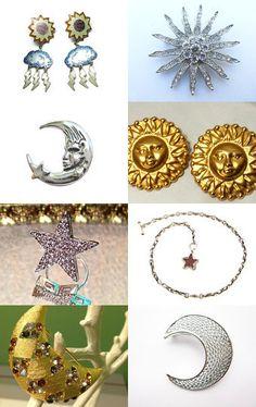 Sun, Moon and Stars by Sally Jones on Etsy--Pinned with TreasuryPin.com