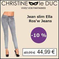 #missbonreduction; Déstockage : remise de 10 % sur le Jean slim Ella Ros'w Jeans chez Christineleduc. http://www.miss-bon-reduction.fr//details-bon-reduction-Christineleduc-i858720-c1836041.html