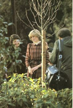 November 19, 1981: Princess Diana plants a tree in Hyde Park after lunch at the…