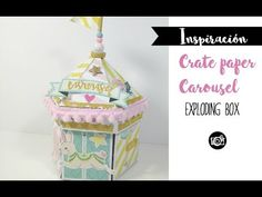 YouTube carrusel caja Mini Scrapbook Albums, Scrapbook Paper Crafts, Mini Albums, Scrapbooking Ideas, Crate Paper, Explosion Box Tutorial, Carousel Party, Diy Crafts For Girls, Pop Up Box Cards