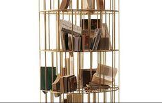 Ceccotti Collezioni modern sense collection - the golden cage book shelf -- What a concept!
