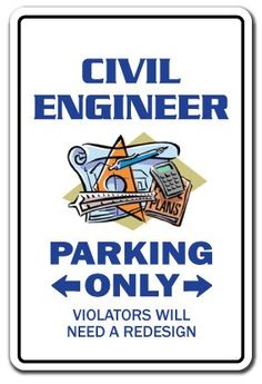 Amazon.com: CIVIL ENGINEER Parking Sign surveying tools rulers gift: Patio, Lawn & Garden