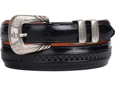 Lucchese Men's Belts | Goat in Black | Hobby Stitching  #LuccheseBelts www.lucchese.com