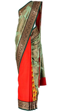 #SABYASACHI Three part saree with kasab border
