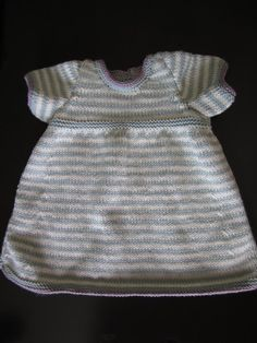 Debbie Bliss Knit Dress- I have knitted in brown and white with hot pink edgings and turned out great.