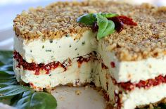Cheese, Basil and Sun-Dried Tomato Torte