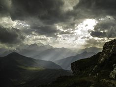Mountain Landscape - Light and shadow from Nuvolau