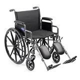 "With a stylish powder-coated and durable scratch-resistant steel frame, the Veranda Wheelchair features a 18"" seat width, a 16"" seat depth, and 250 lb. weight capacity. Folds easily. Footrest $250.00 and Elevating Legrest $275.00"