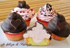 Cupcakes con frosting al mascarpone alchermes e cioccolato ©Le delizie di Patrizia Gabriella Scioni Ph.