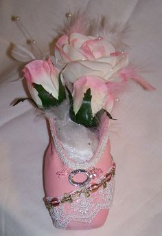Find the Cure Decorated Breast Cancer Pointe by DreamsAchievement, $80.00