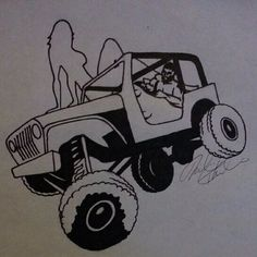 While working on the new #jeepbeef Logo with this amazing artist @yellow_jeepchick she came up with this amazing #jeepbeefdrawing , inspiration is @ashtonicon .  Sorry @ashtonicon it was too difficult to print this image but heres one for you to have as well.  The New Logo and merchandise will be announced very soon.  Please show @yellow_jeepchick some #jeepbeeflove and follow her and love her #jeepbeefdrawings #Padgram