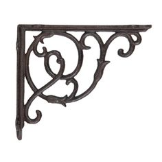 vintage wrought iron brackets | PAIR WROUGHT IRON BRACKETS VICTORIANA SMALL