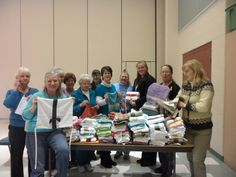A group of generous ladies from the Akron Canton Chapter American Sewing Guild made 169 clothing protectors for our residents!  Thank you volunteers!  For more information on how you can get involved, please visit Hattie Larlham at http://www.hattielarlham.org/v/volunteer.asp