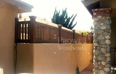 wood fence topper for concrete walls
