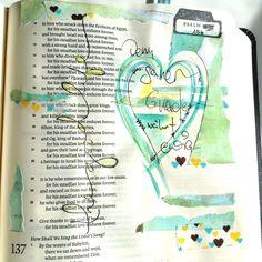 by francisca Chalkboard Bible Verses, Scripture Art, Bible Art, Scripture Journal, Faith Bible, My Bible, Psalm 136, Psalms, Biblical Quotes