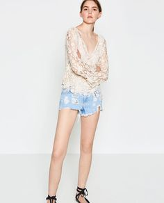 Image 1 of LOW CUT CROCHET TOP from Zara