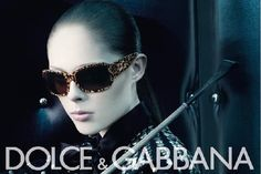 coco rocha for dolce & gabbana eyewear fall/winter 2007 ad campaign by steven klein.