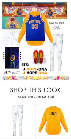 """""""BTS: J-HOPE """"DNA"""" M/V Outfit"""" by itzbrizo ❤ liked on Polyvore featuring AMIRI"""