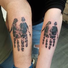 88 Creative Father-Daughter Tattoo Ideas Perfect For Any Daddy's Girl Daddys Girl Tattoo, Daddy Tattoos, Tattoo For Baby Girl, Father Tattoos, Tattoo For Son, Tatoos, Father Daughter Tattoos, Tattoos For Daughters, Girls With Sleeve Tattoos