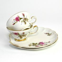 Snack saucer tea set~ I bought 4 sets today for 3.00 each!