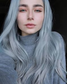Best Silver Hair Color Ideas For Women Look More Beautiful 10 Short Hairstyles For Women, Hairstyles Haircuts, Braided Hairstyles, Silver Hair Girl, Silver Hair Tumblr, Pelo Multicolor, Balayage Ombré, Scene Hair, Cool Hair Color