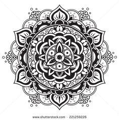 Mandala. Round Pattern - stock vector