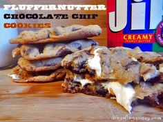 Fluffernutter Chocolate Chip Cookies | Dreaming All Day