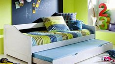 small kids bedroom ideas, double bed for two kids