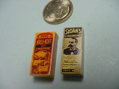 Vintage Cough Syrup and Sloans Liniment