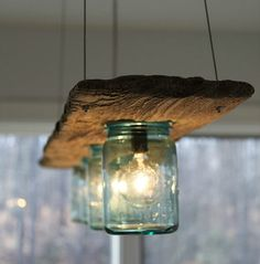 15 Breathtaking DIY Wooden Lamp Projects to Enhance Your Decor With homesthetics. 15 Breathtaking DIY Wooden Lamp Projects to Enhance Your Decor With homesthetics diy wood projects Diy Luminaire, Mason Jar Lighting, Diy Mason Jar Lights, Wood Lamps, Glass Pendant Light, Pendant Lights, Pendant Lamp, Mason Jar Lamp, Pots Mason