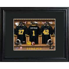 Personalized Missouri Tigers Football Locker Room Print - For Him | $89