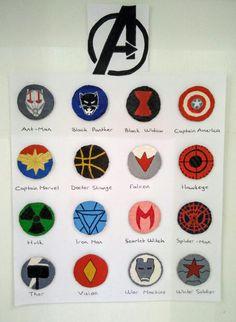 Marvel Logo, Marvel Art, Marvel Avengers, Avengers Symbols, Avengers Characters, Avengers Painting, Avengers Drawings, Marvel Paintings, Character Symbols