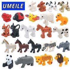 UMEILE 28 Stijl Originele Klassieke Animal Zoo Grote Bouwstenen Speelgoed DIY Set Baksteen Compatibel met Duplo Kerstcadeau