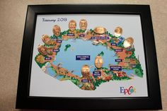 Pressed pennies + Epcot map = this great project