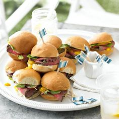 Herb-Garlic Roast Beef Sliders! Great Recipes for the Fourth and all summer long!
