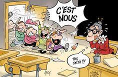 Ce 3 septembre, un peu plus de 12 millions d'élèves ont découvert ou retrouvé les bancs de l'école (qui sont de moins en moins des bancs) et le tableau noir (de plus en plus numérique).  Pour cette rentrée, près de 8 200 postes ont été créés (le candidat Hollande en a promis 60 000 pour l'ensemble du quinquennat). Quelque 80 000 postes avaient été supprimés durant la présidence Sarkozy.L'autre grand changement, ce sont de nouveaux rythmes en primaire – enfin relativement nouveaux, puisqu'il…