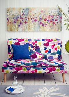 Fi Bench by Roger Lewis in Bluebellgray fabric exclusive to John Lewis