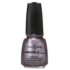 China Glaze CRACKLE METALS LATTICED LILAC (LAVENDER) $1.50 swatched on nail wheel