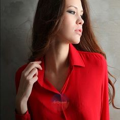 Fashion Women Chiffon Long Sleeve Vintage Blouse Loose Tops Casual Collar Shirt | eBay